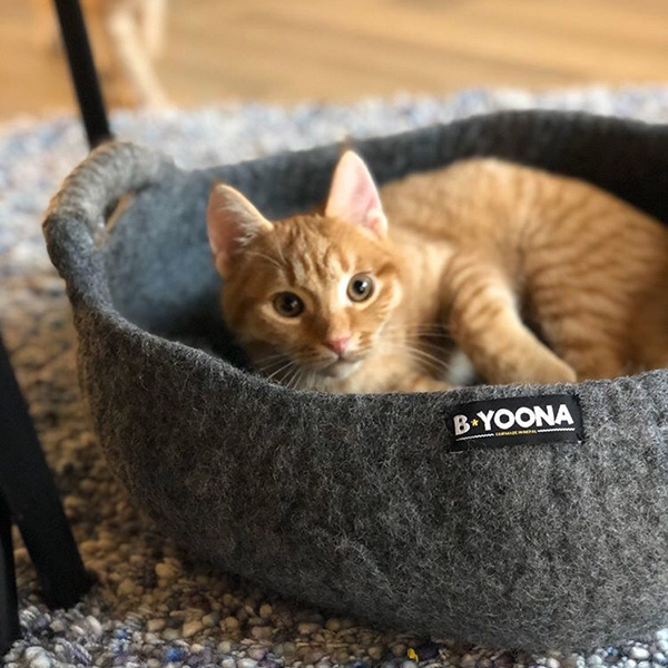 fairtrade kattenmand antraciet