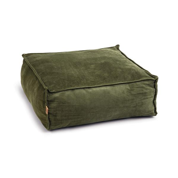 honden ligkussen velveti groen honden en kattenzooi -
