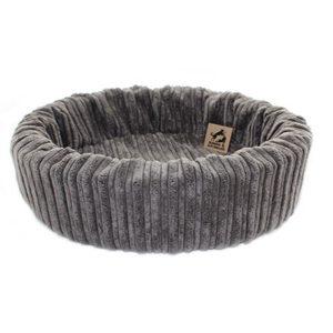 Retro grijze mand voor kat of hond honden en kattenzooi