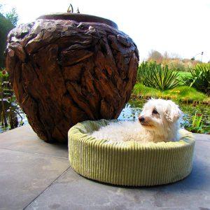 hondenmand ribstof Jade honden en kattenzooi